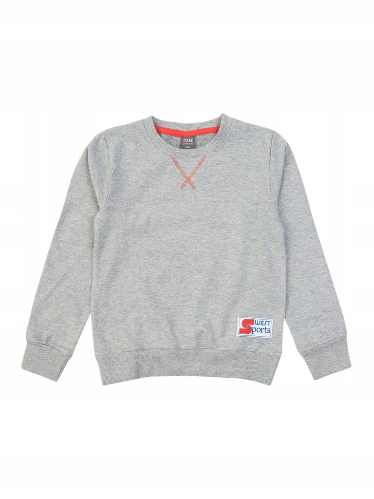 TXM bluza chłopięca 134 CIEMNY SZARY MELANŻOWY