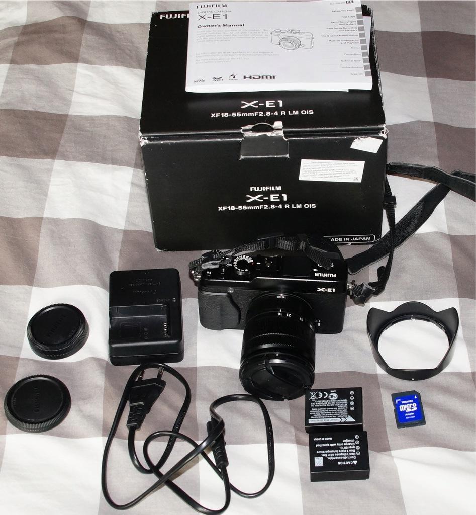 Fujifilm X-E1 obiektyw 16-50 OIS SD 2xAku