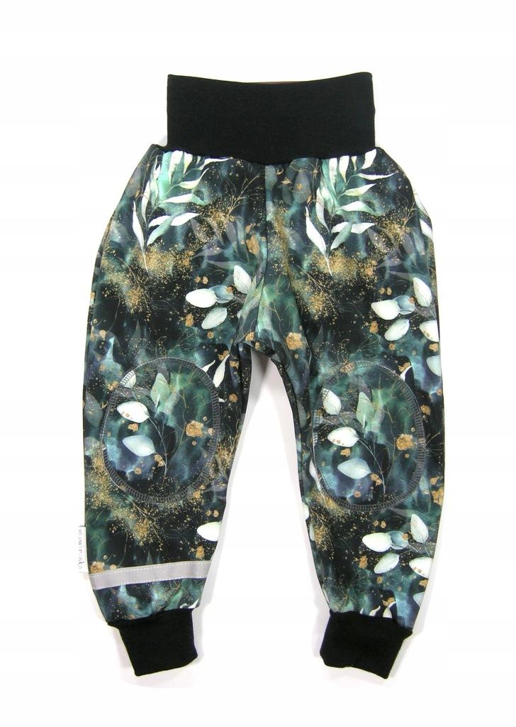 SALE Wodoodporne spodnie Softshell Odblask 104/110