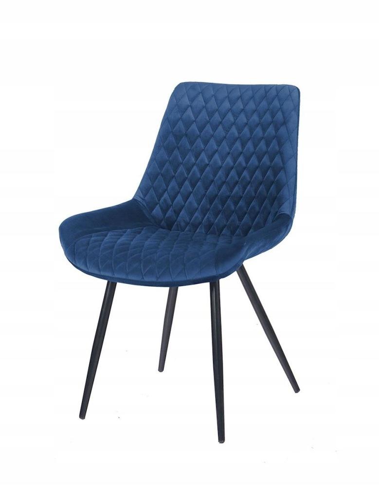 Krzesło SANDIEGO granatowy/ noga czarna