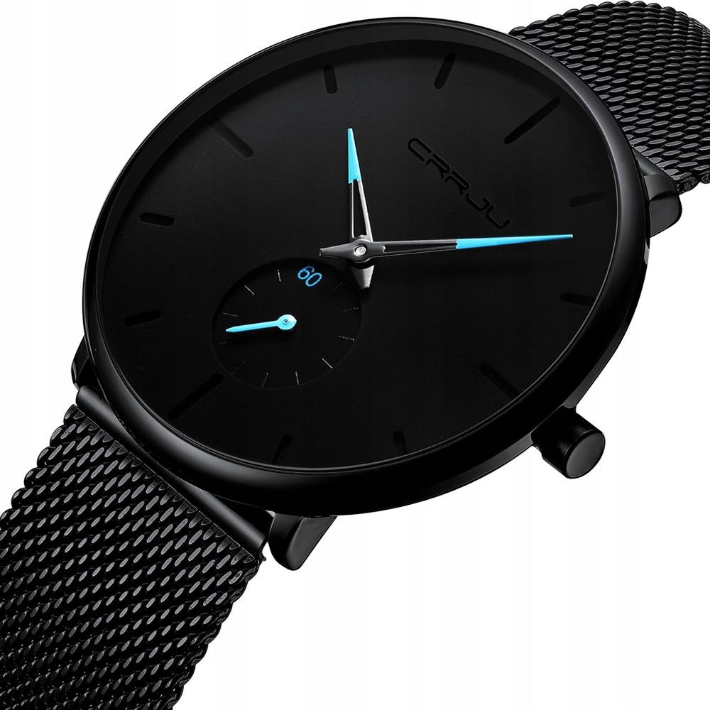 Zegarek męski czarny elegancki klasyczny