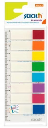 Zakładki indeks.samoprz. mix 8 kol. neon z linijką