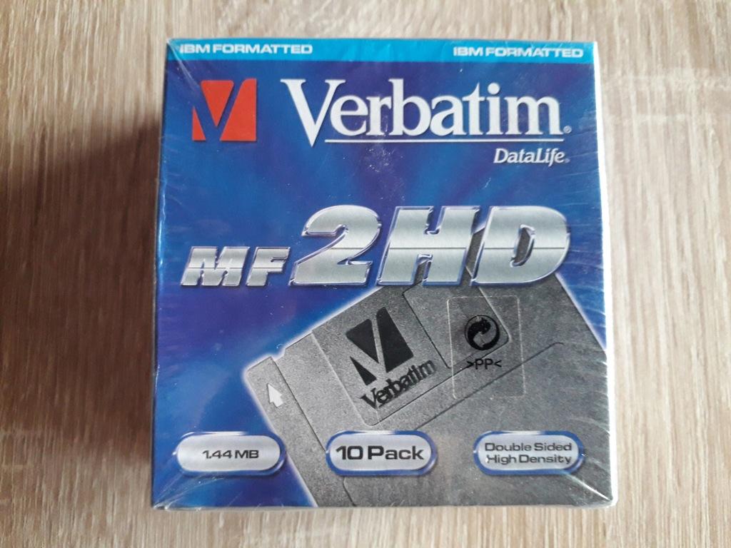 Verbatim MF 2HD nowe w folii - paczka 10szt.