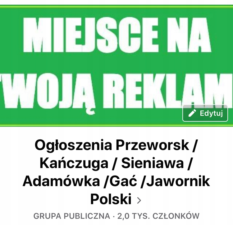 "Grupa na Facebooku ""Ogłoszenia Przeworsk..."""