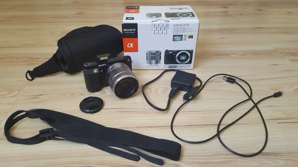 Aparat SONY NEX-F3K NEX-3 przebieg 6800 18-55mm