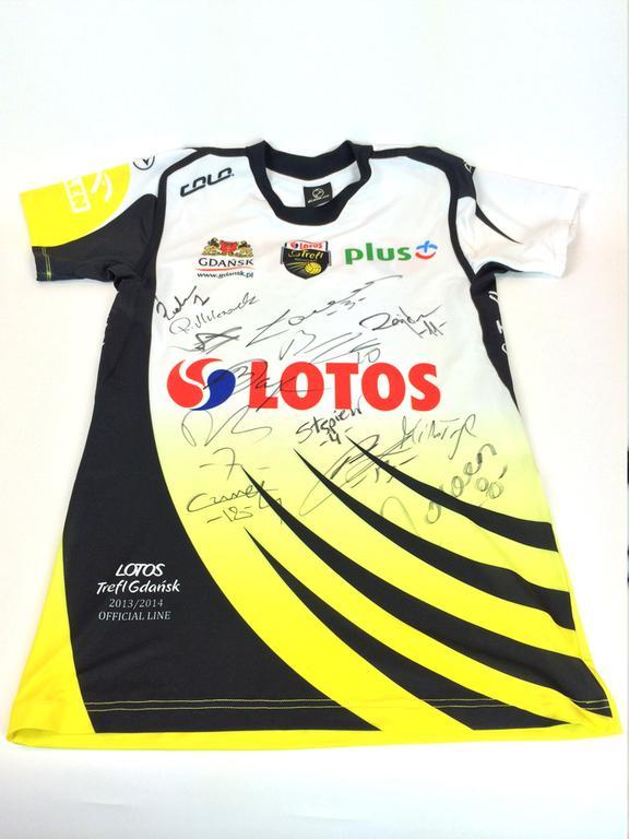 Koszulka z podpisami siatkarzy Lotos Trefl Gdańsk