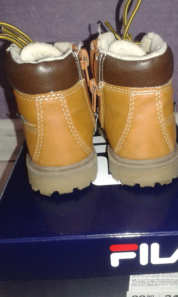 Buty dziecięce jesienne zimowe Fila rozmiar 21