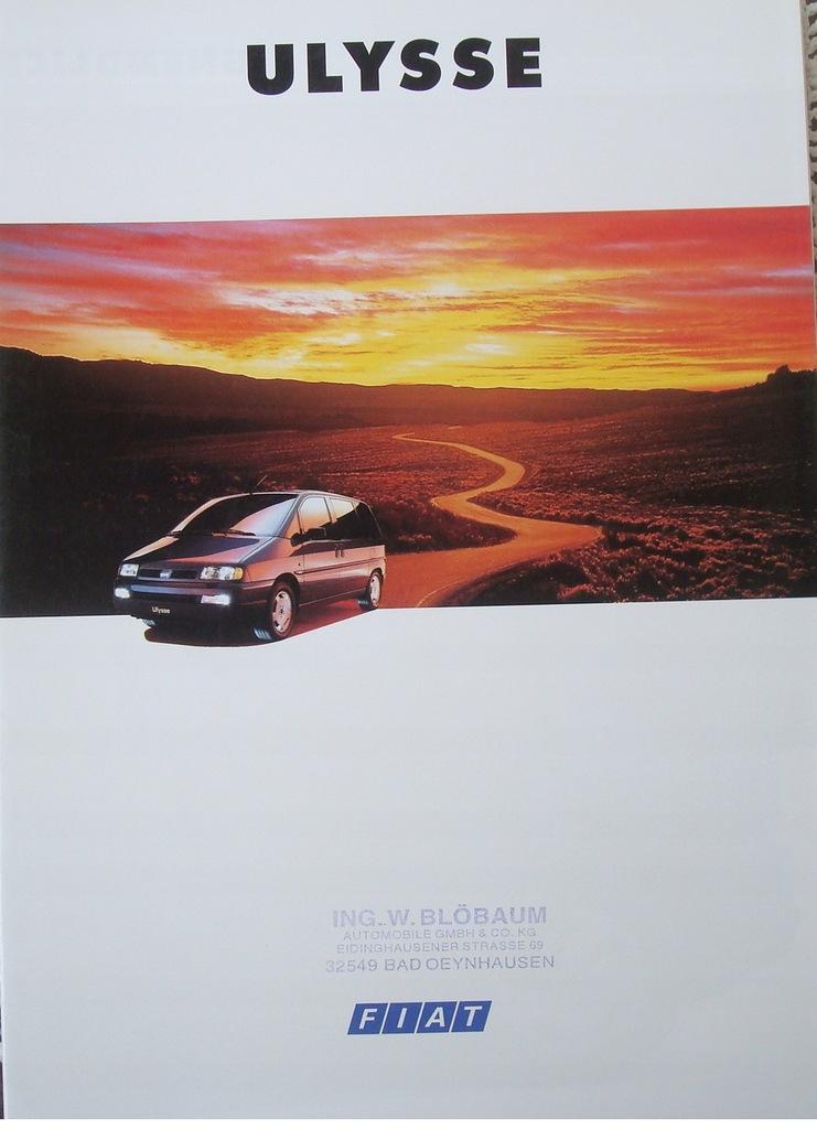 FIAT ULYSSE 1994 HIT Prospekt