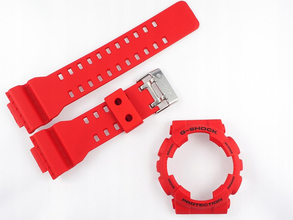 Pasek bezel Casio GD-100 GD-110 GD-120 GAX-100 RED