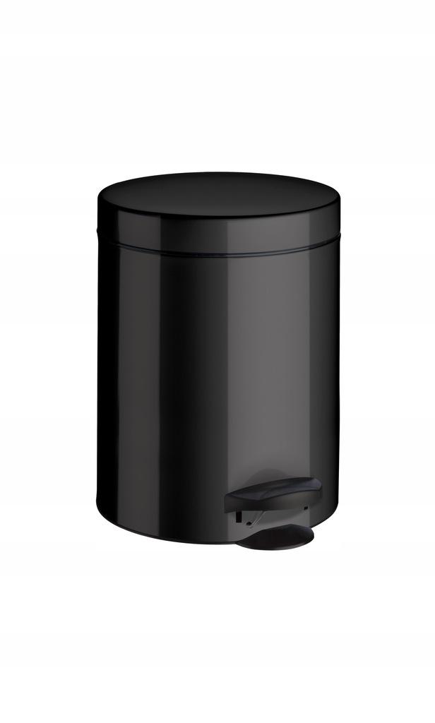 Odpadkový kôš classic 5 l čierna oceľ malý