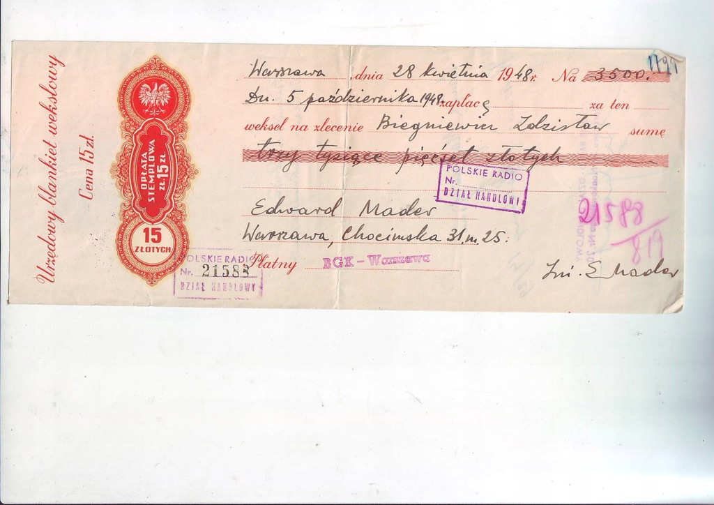 Wexel 3500 zl 1948