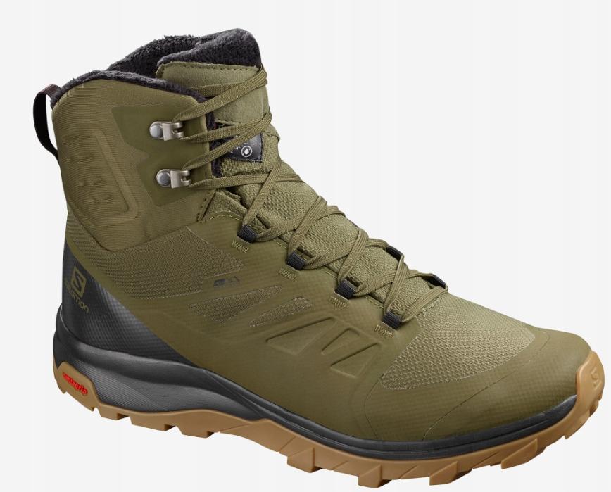 Salomon Buty Outblast TS CSWP Buty trekkingowe męskie zielone w