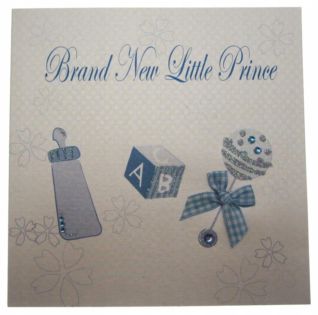 WHITE COTTON CARDS 1-Piece Little Prince Handmade