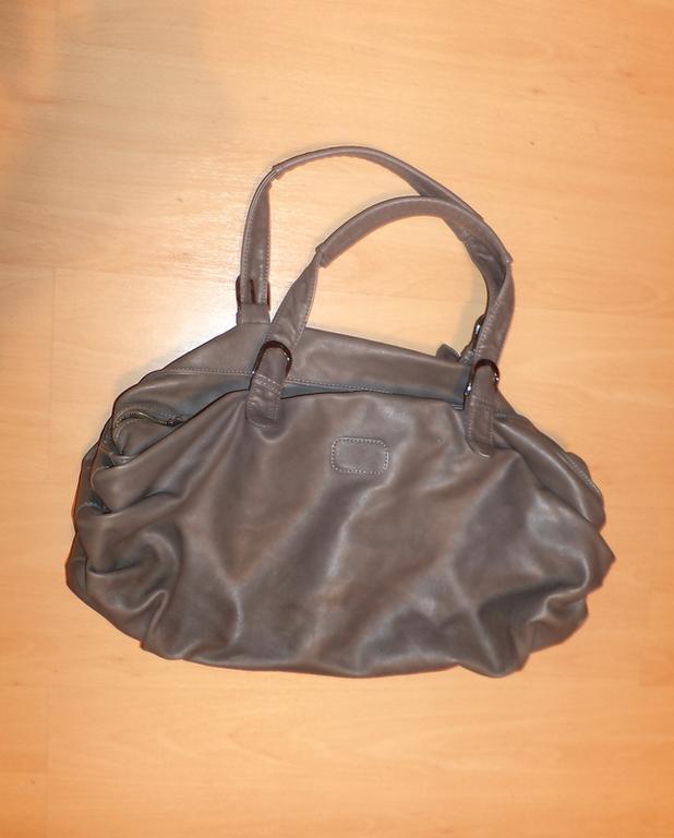 Bardzo pojemna, szara torba, RESERVED