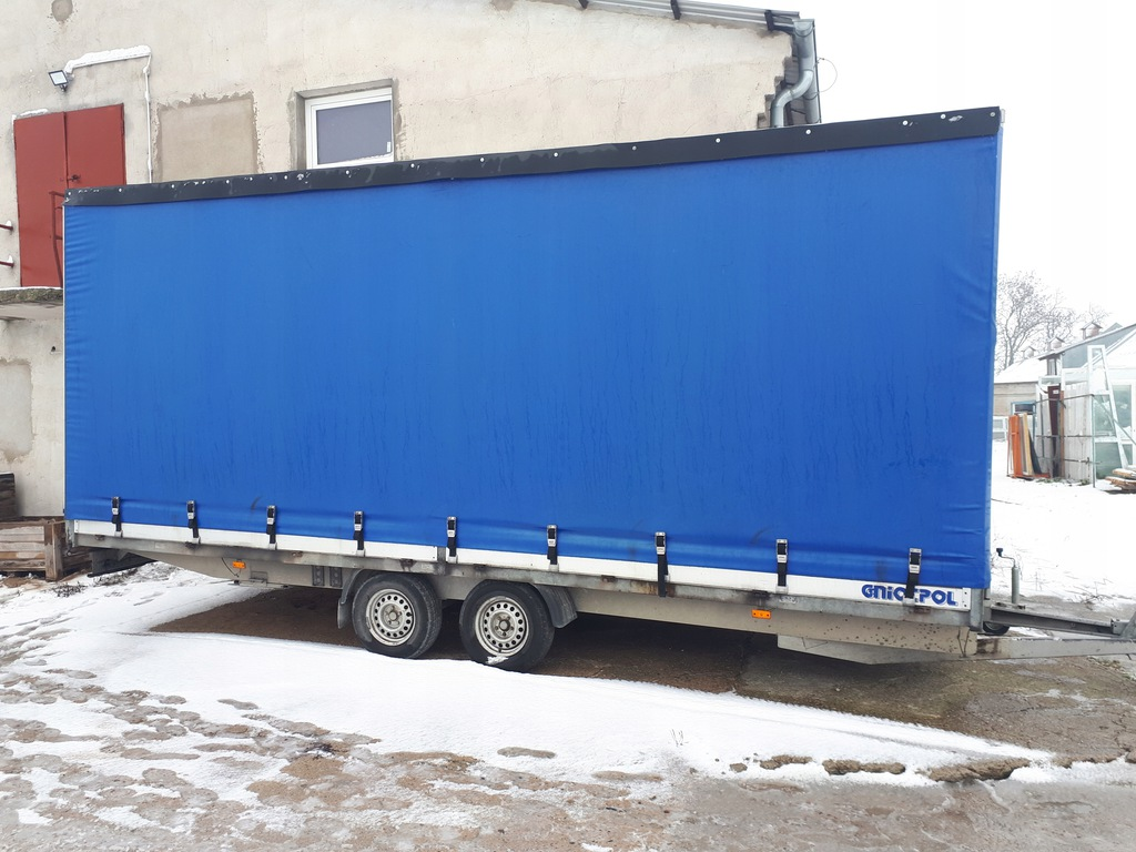 Przyczepa Samochodowa Plandeka 6,4m Długa Gniotpol