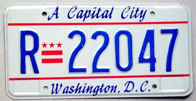 Tablica Rejestracyjna Usa Washington D C 8279088031 Oficjalne Archiwum Allegro