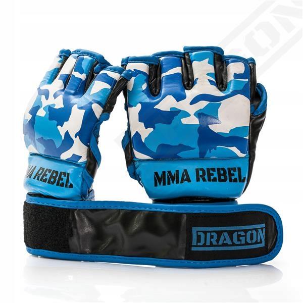 DRAGON RĘKAWICE GRAPPLING MMA REBEL XL MORO