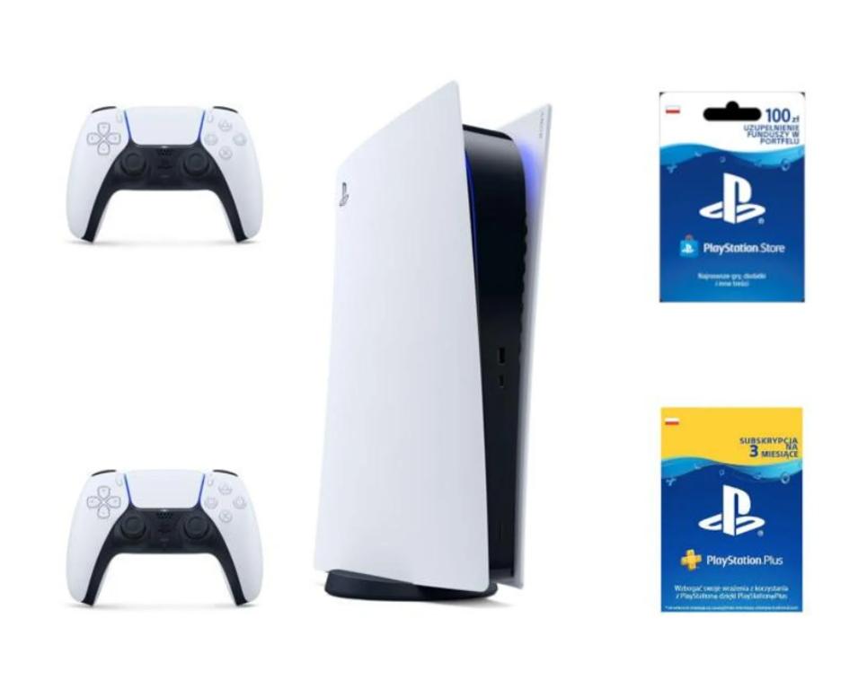 Playstation 5 Digital + 100 PLN Plus 90 dni 2 pady