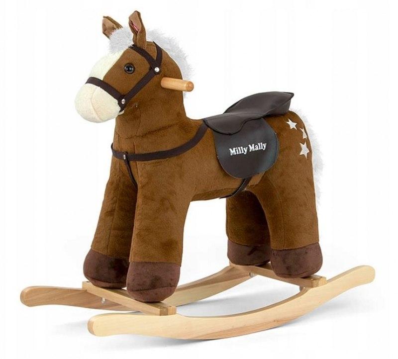 Konik Koń na biegunach Pepe Dark Brown Brązowy Buj