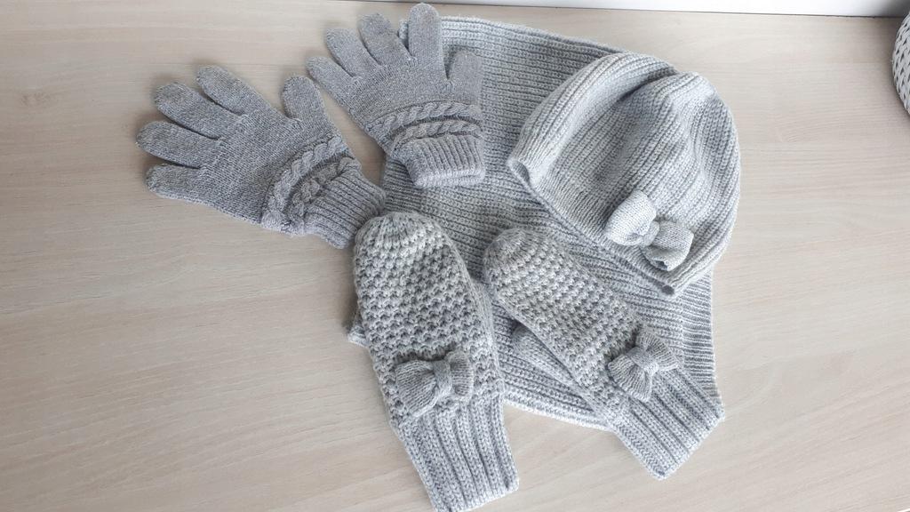 H&M czapka, komin, rękawiczki 92/104