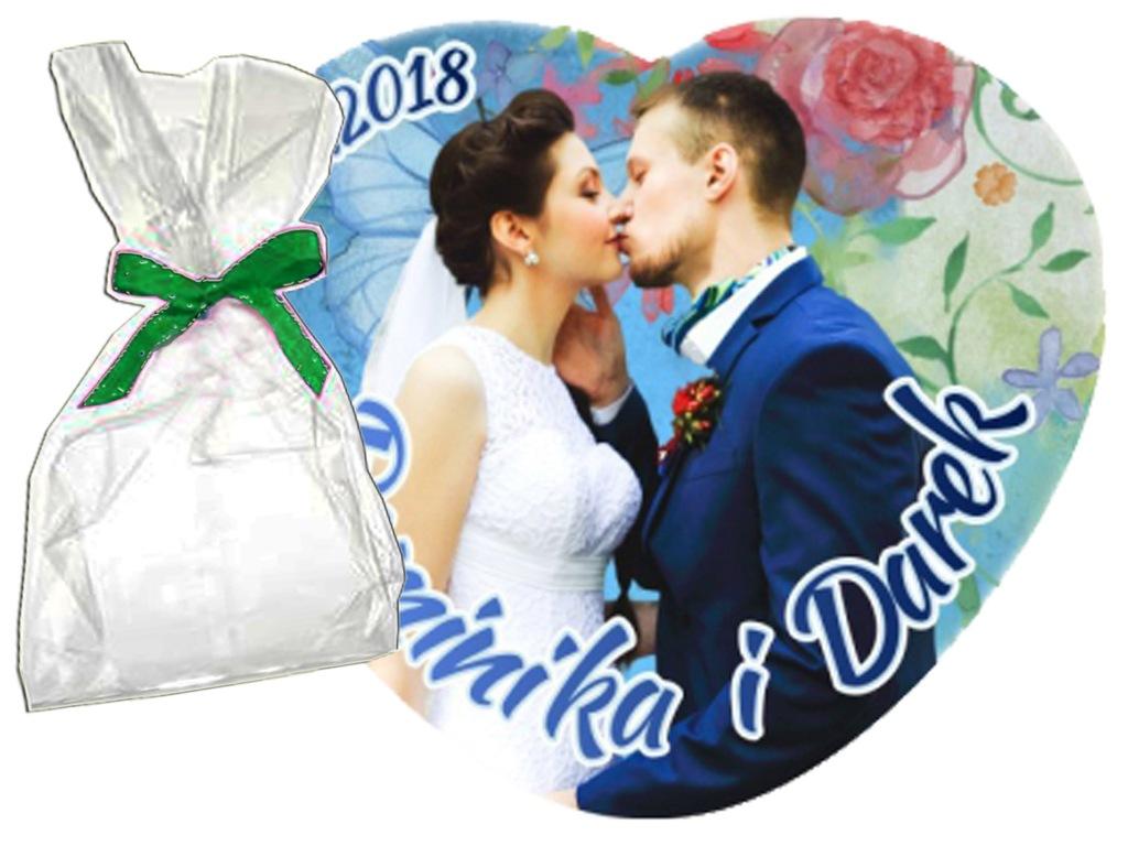 Foto Magnes podziękowania ślubne 10cm SERCE