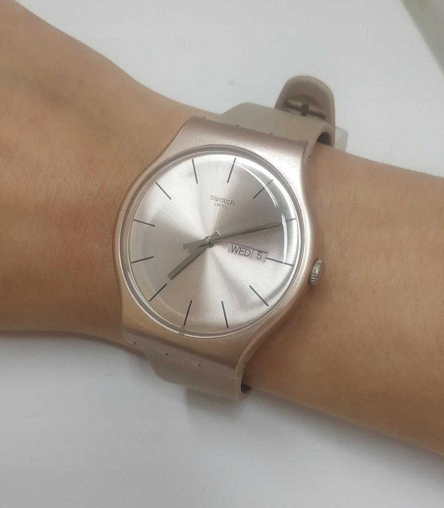 Piękny zegarek Swatch New gent nude pearl rose