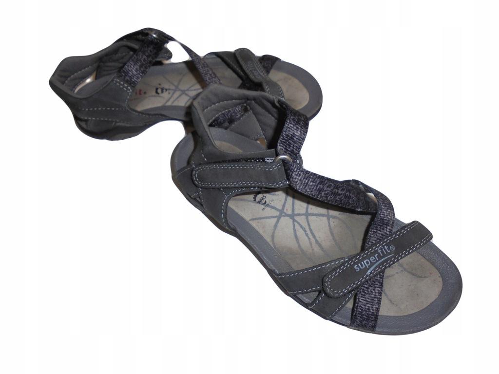 Skórzane sandałki Superfit. Stan idealny. 34