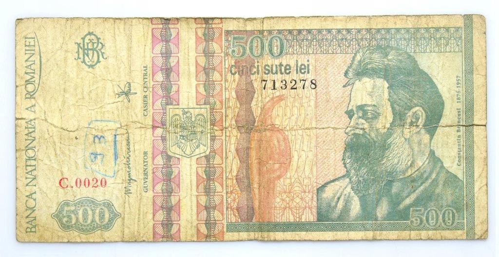 BANKNOT - Rumunia - 500 Lei 1992