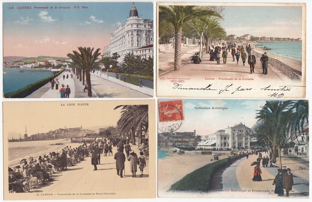 Stare pocztówki CANNES PROMENADA (4 szt.) 4N67
