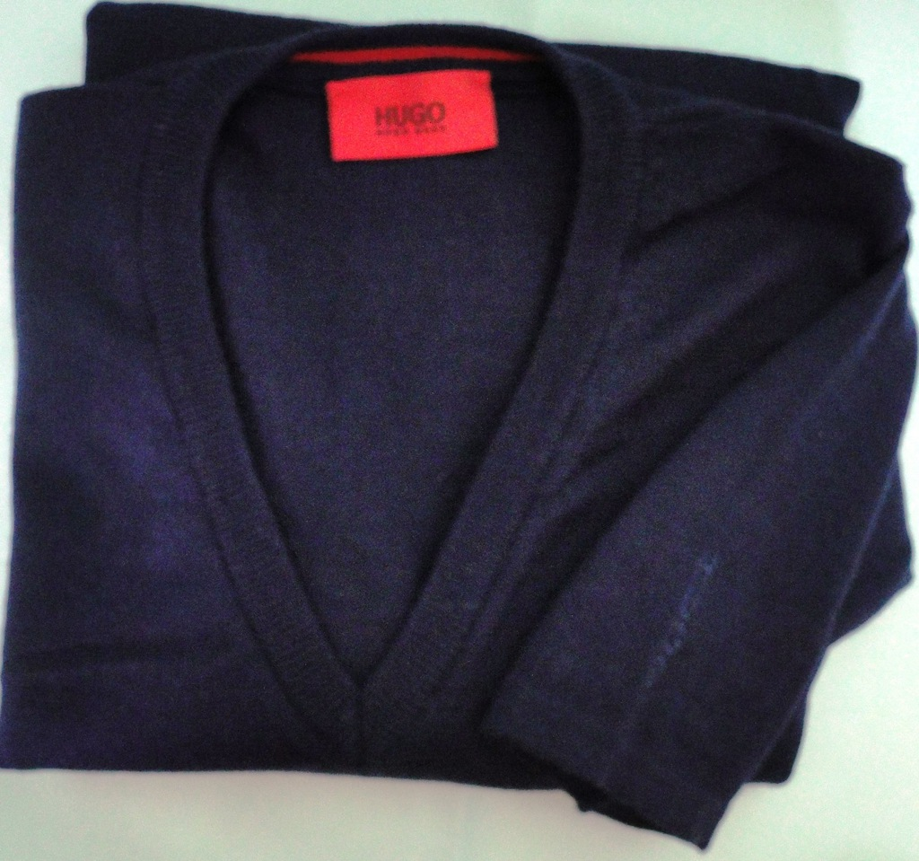HUGO BOSS - granatowy sweter rozm. L