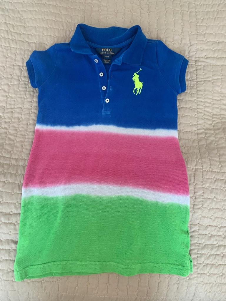 Koszulowa sukienka niebieski POLO RALPH LAUREN 4T