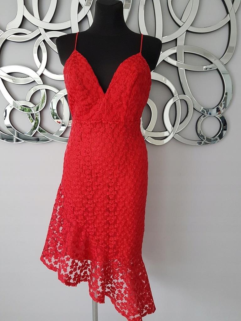 Elegancka sukienka TOP SHOP koronka GIPIURA 38/M