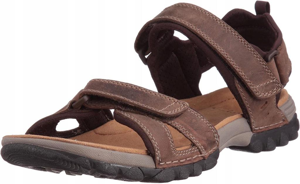 CLARKS komfortowe sandały 46 (30cm) skóra