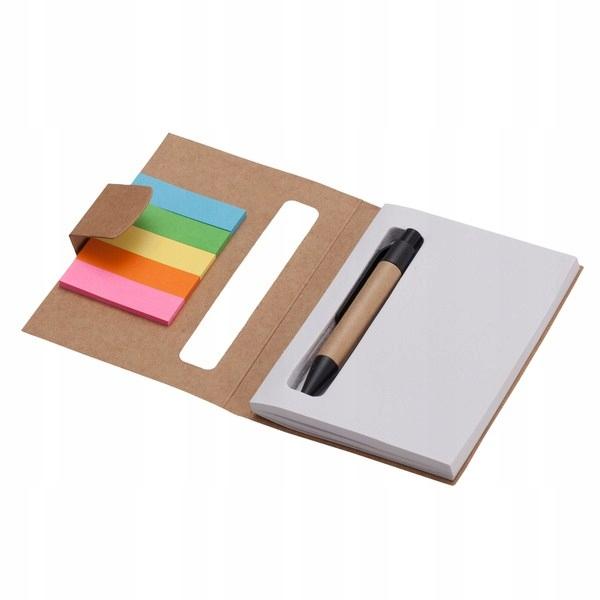 Notes 80x110/100k gładki Mini z długopisem, beżowy