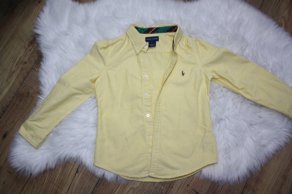 Koszula żółta Ralph Lauren boy - 116