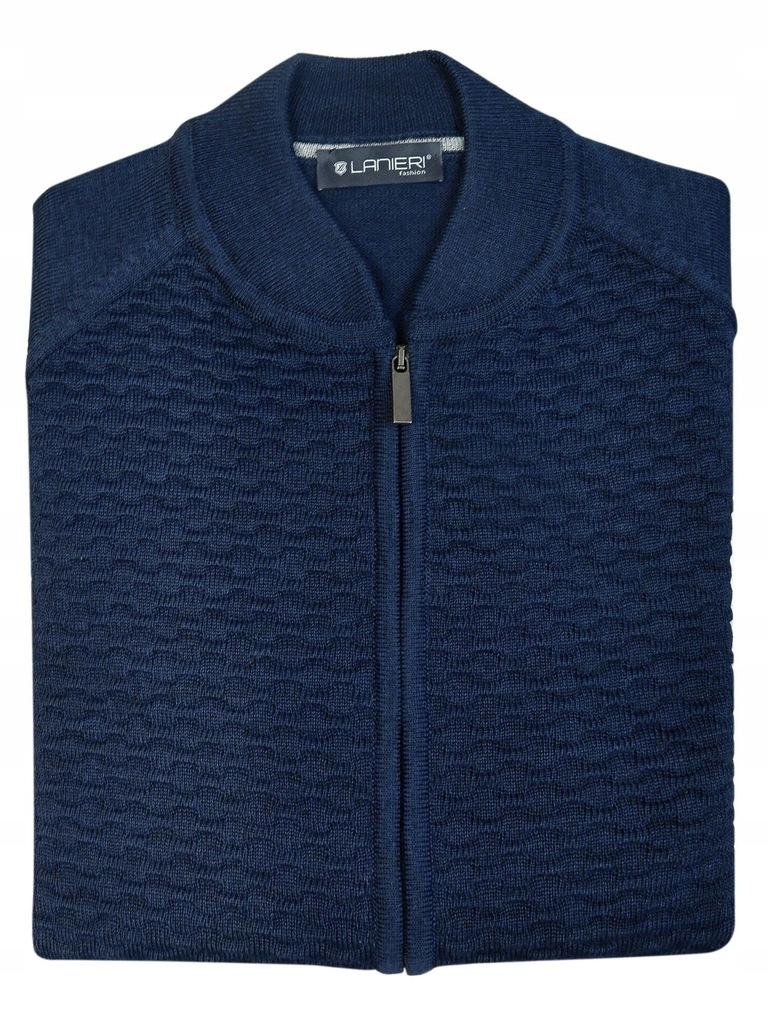 Granatowy sweter męski na zamek LANIERI 3XL SW47