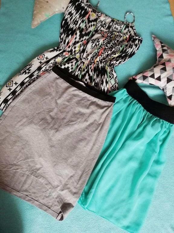 Zestaw sukienek i spódniczka dla dziewczynki 158 1