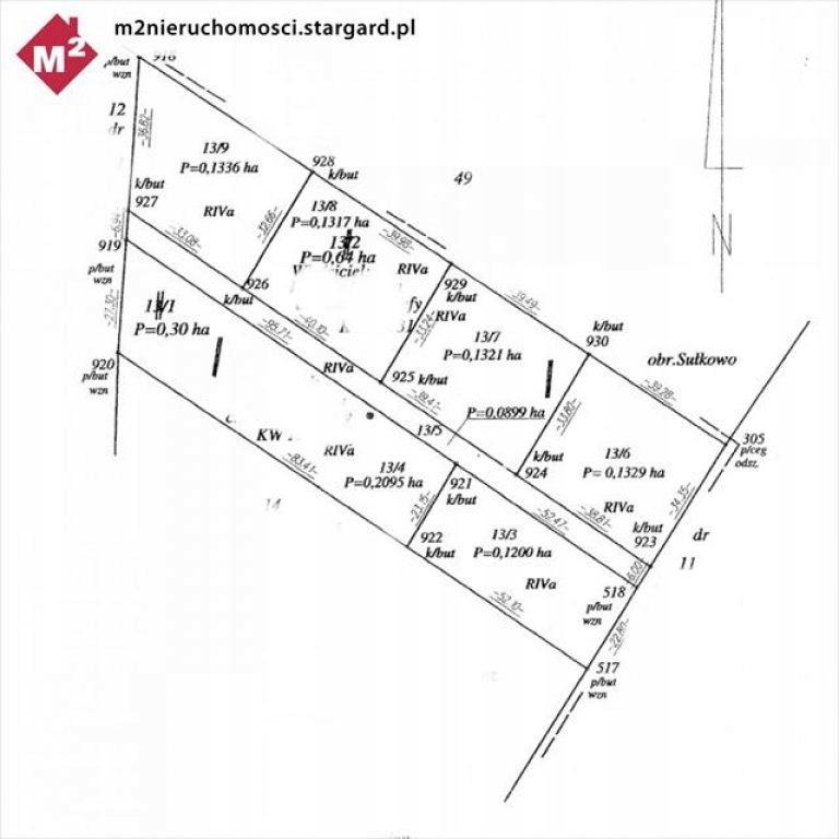 Działka Stargard, stargardzki, 1300,00 m²