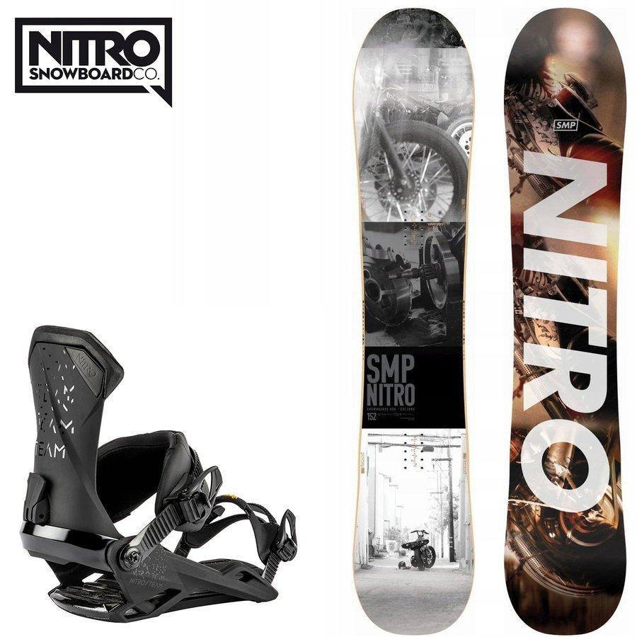 ZESTAW NITRO 2020: snowboard SMP + wiązania Team