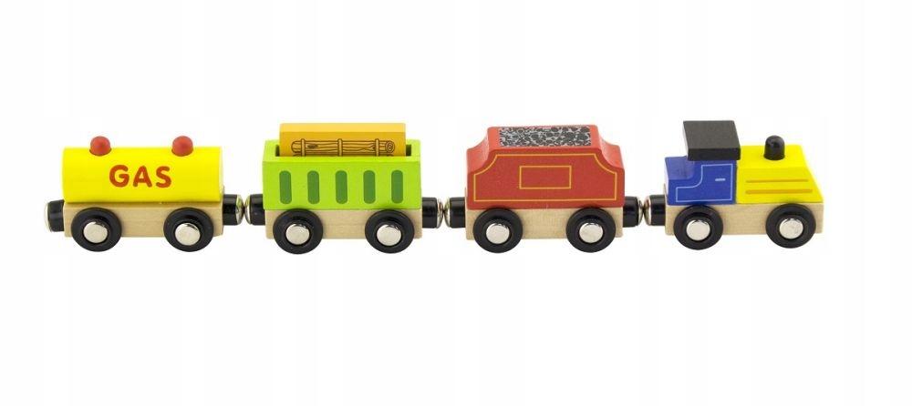 Zabawki dla dzieci Pociąg towarowy 4wagony Kolejka