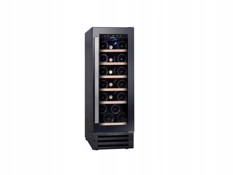 OUTLET Czarna Chłodziarka na wino CANDY CCVB30 58L