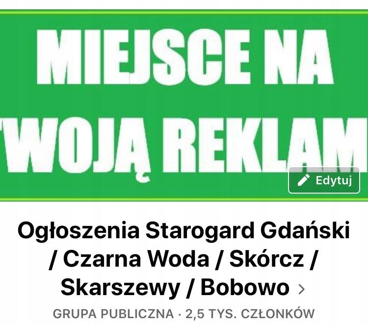 "Grupa na Facebooku ""Ogłoszenia Starogard Gdański"""