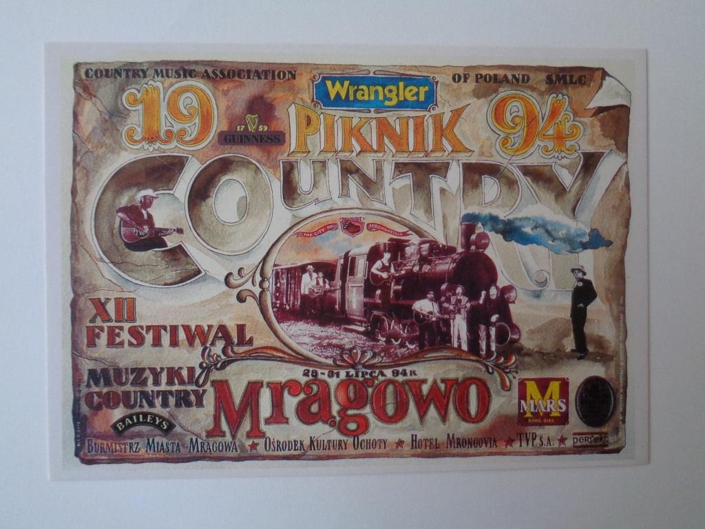 kartka pamiątkowa Piknik Country Mrągowo 1994r.