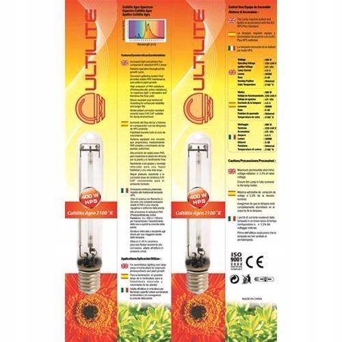 Lampa HPS Cultilite 400W Żarówka sodowa - EasyGrow