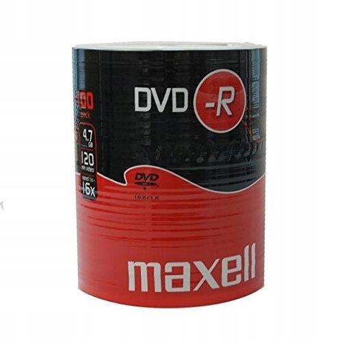 Maxell 275733 Płyty DVD-R 16x, 4,7GB, 100 sztuk