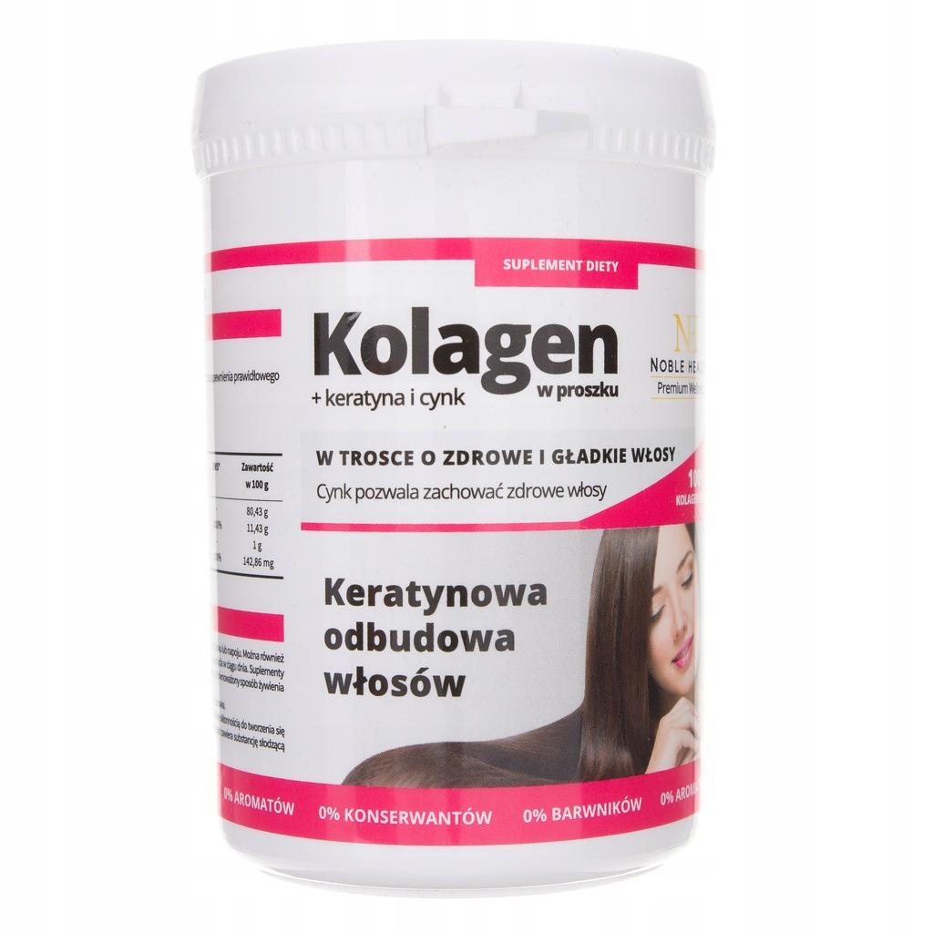 Noble Health Kolagen W Proszku Keratyna I Cynk 8334295858 Oficjalne Archiwum Allegro