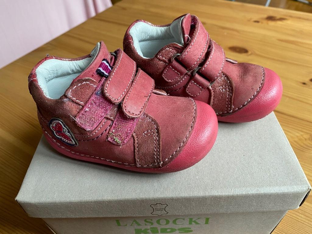 Buty niemowlęce skórzane lasocki rozmiar 19