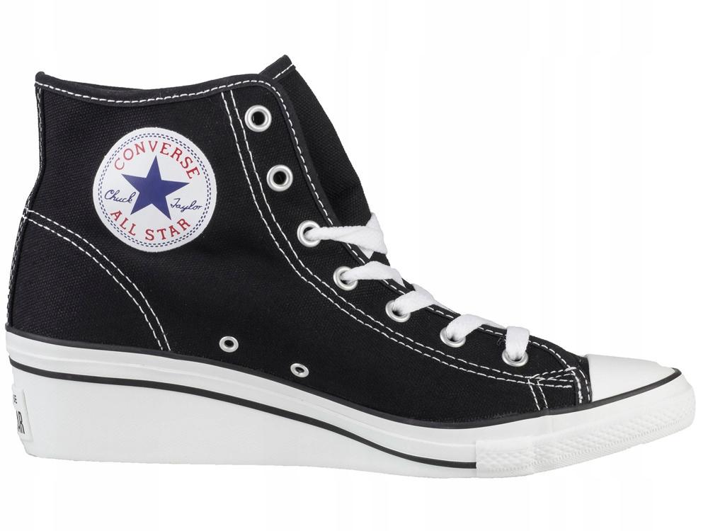 Buty Trampki Converse All Star Koturnie Czarne