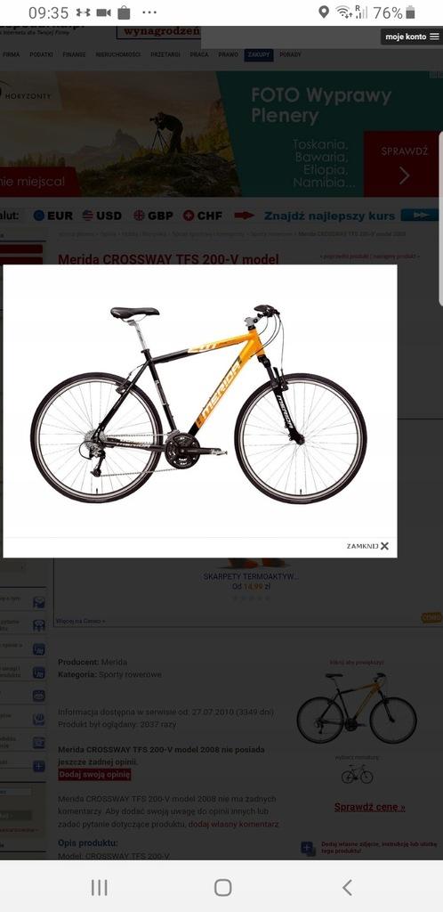 Rower Merida tfs200 elektryczny
