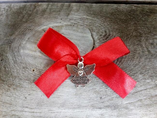 Czerwona Kokardka Aniolek Do Wozka Lozeczka 7527597437 Oficjalne Archiwum Allegro